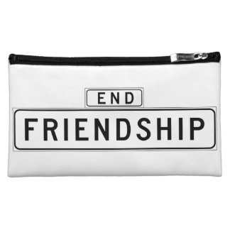 Friendship Court, San Francisco Street Sign Cosmetic Bag