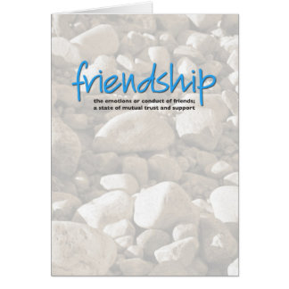 Friendship Definition Inspiration Card