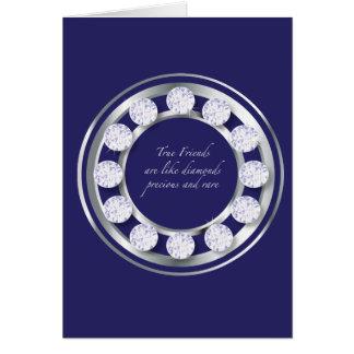 Friendship Diamonds Greeting Card