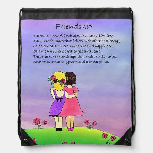 Friendship Drawstring Backpack
