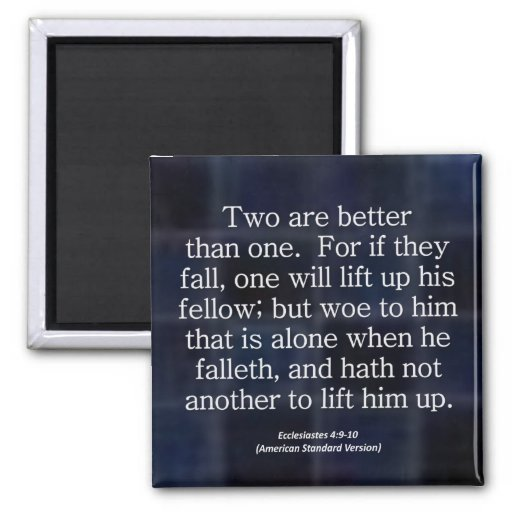 Friendship Ecclesiastes 4-9 Condensed Fridge Magnet