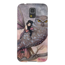 Friendship Fairy and Owl Fantasy Art Galaxy S5 Case