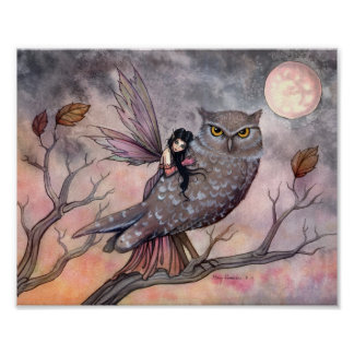 Friendship Fairy and Owl Poster