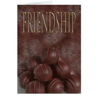 Friendship for the chocoholic card