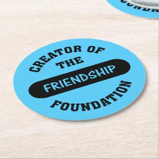 Friendship Foundation Creator Round Paper Coaster