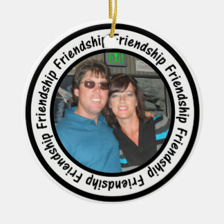 Friendship Frame Circle Add Your Photo Ornament