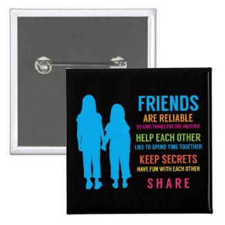 Friendship Friend BFF Girlfriends Best Friends Pinback Buttons