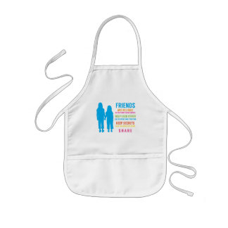 Friendship Friend BFF Girlfriends Best Friends Kids' Apron