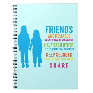 Friendship Friend BFF Girlfriends Best Friends Spiral Notebook