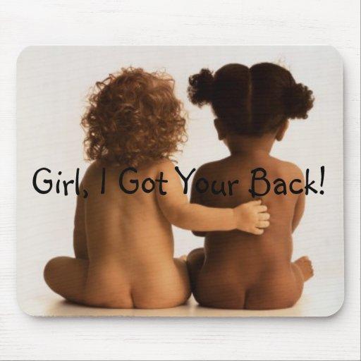 Friendship Girl I Got Your Back Mouse Mat Zazzle