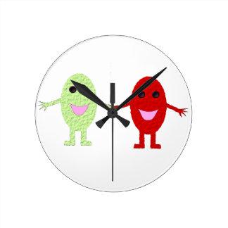 Friendship Grapes Wall Clock