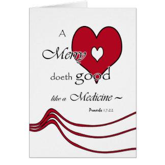 Friendship Heart Greeting Card, Proverbs 17:22 Card