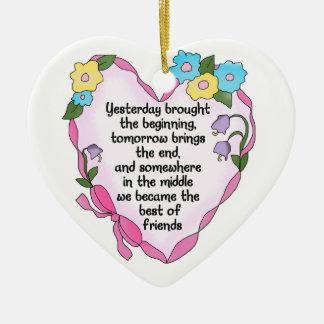 Friendship Heart Three Keepsake Ornament
