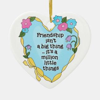 Friendship Heart Two Keepsake Ornament