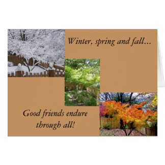 Friendship in all seasons greeting cards