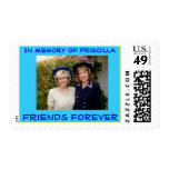 Friendship - In memory of two forever friends Postage Stamp