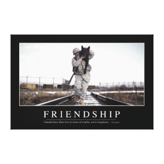 Friendship: Inspirational Quote Gallery Wrapped Canvas