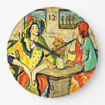 """Friendship is a Blessing"" art painting Wallclocks"