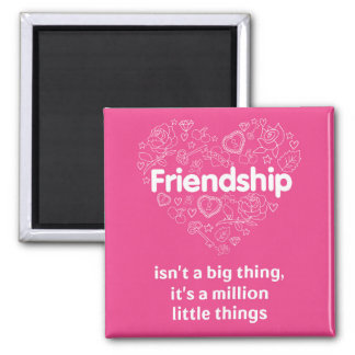 Friendship is a million little things. Magnet