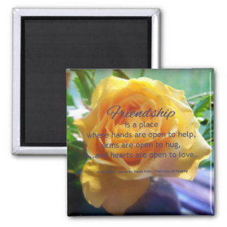 Friendship is a place...Friendship quote 2 Inch Square Magnet