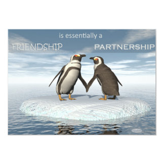 Friendship is essentailly a partnership card