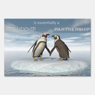 Friendship is essentailly a partnership sign