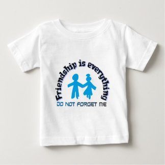 Friendship is everything two holding hands, image baby T-Shirt