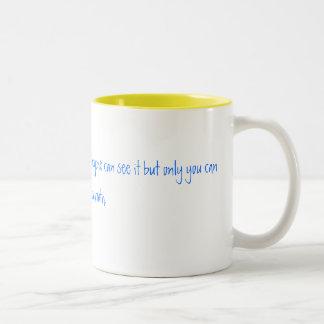 Friendship is like peeing your pants. Everyone ... Two-Tone Coffee Mug