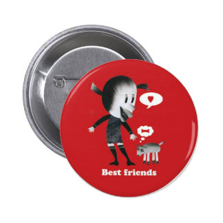 Friendship is the best thing in the world! 2 inch round button