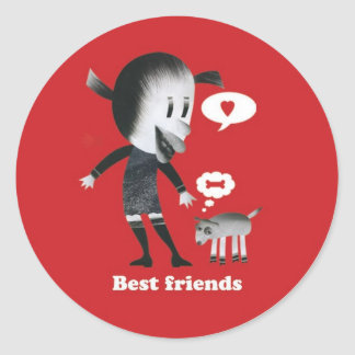 Friendship is the best thing in the world! classic round sticker