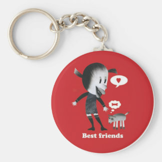 Friendship is the best thing in the world! basic round button keychain