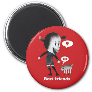 Friendship is the best thing in the world! refrigerator magnet