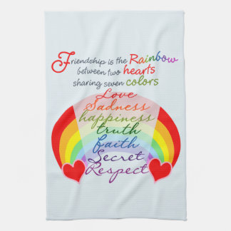 Friendship is the rainbow BFF Saying Design Hand Towel