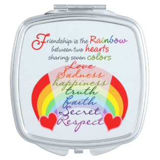 Friendship is the rainbow BFF Saying Design Mirror For Makeup