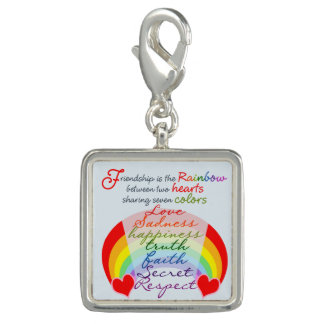Friendship is the rainbow BFF Saying Design Photo Charms