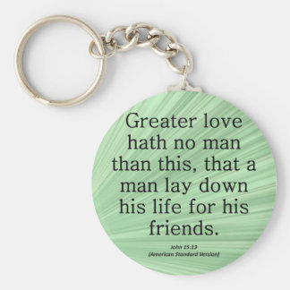 Friendship John 15:13 Condensed Keychain