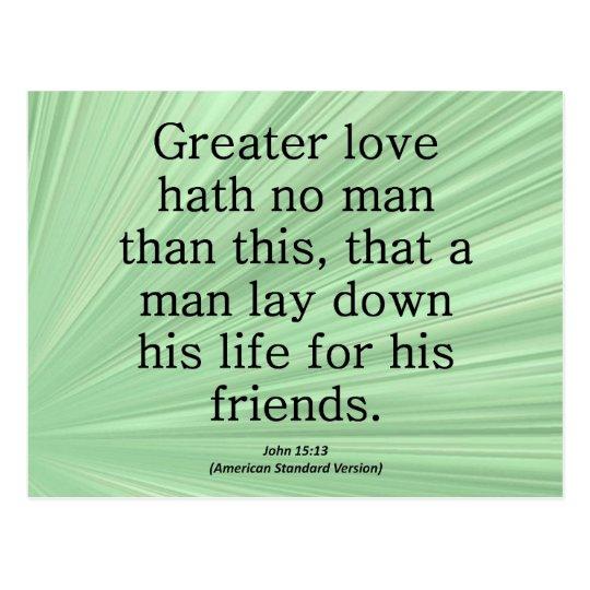 Friendship John 15:13 Condensed Postcard
