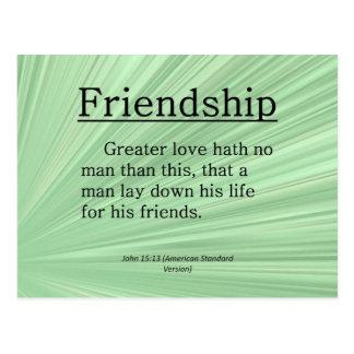 Friendship John 15:13 Postcard