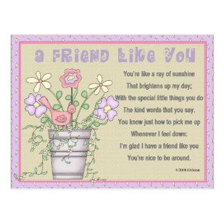 Friendship Keepsake Card Postcard
