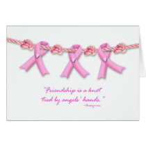 Friendship Knots Against Breast Cancer, Get Well Card
