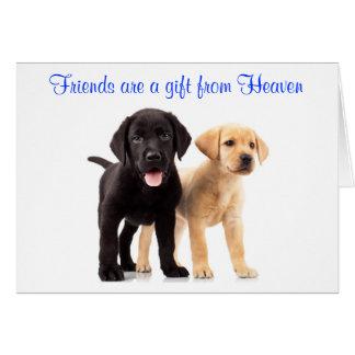 Friendship Labrador Retriever Puppies Card