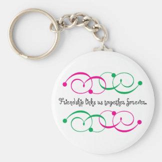 Friendship Links Basic Round Button Keychain