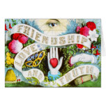 Friendship Love and Truth - Vintage Art Card