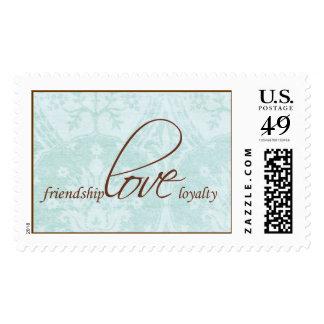 friendship.love.loyalty stamp