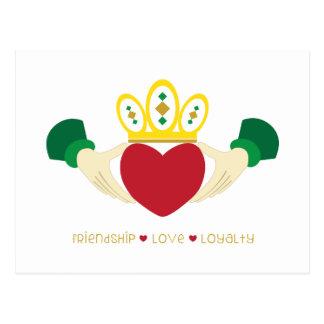 Friendship*Love*Loyalty Tarjeta Postal