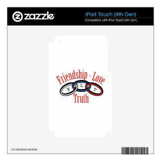 Friendship Love Truth Decals For iPod Touch 4G