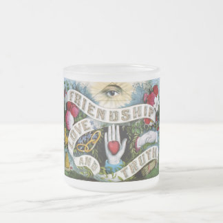 Friendship Love Truth Painting Frosted Glass Coffee Mug
