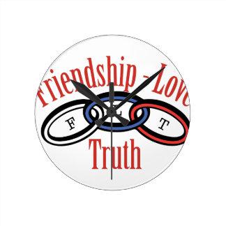 Friendship Love Truth Round Clock