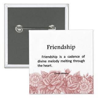 Friendship Melodies Pinback Button