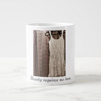 Friendship Mugs-Beauty requires no iron. Giant Coffee Mug